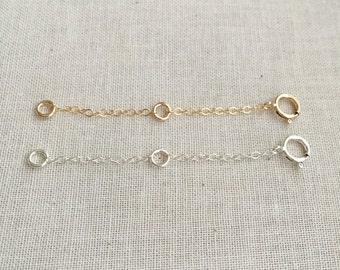 2 inch 14k Gold Filled OR Sterling Silver Extender   Chain Extender