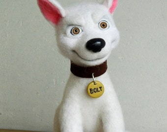 Bolt the Dog (felted toy)