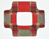 Rug Hooking Sleeve Saver for SMALL Frame in Plaid w/Autumn Colors