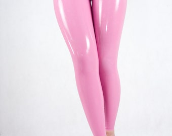 Latex leggings cameltoe