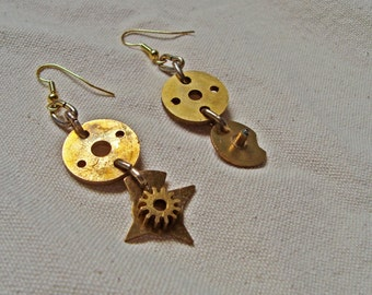 Dangling Earrings // Industrial Mismatched Pair