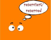 reserved for Christine O.