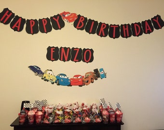 Disney Cars Inspired Birthday Banner, Disney Cars Party