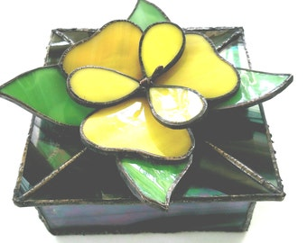 Stained Glass 3D Ring or Earring Box