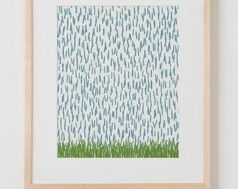 Fine Art Print. Rain, December 4, 2014.