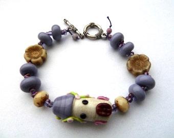 fairytale lampwork bracelet