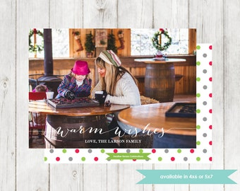 Printable Holiday Photo Card | Christmas Photo Card | DIY Digital File