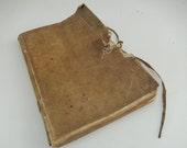 Rare Book - Historical Book - 1700s Receipt Book - Sheepskin Cover Book - Rare Document - Paper Ephemera