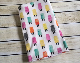 Organic Cotton Knit Popsicle Party Swaddle Blanket. Newborn, Baby Photo Prop, Baby Shower Gift, Swaddling Blanket