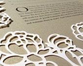 papercut ketubah | wedding vows | Art Nouveau Roses