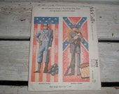 McCalls Transfer Pattern Cross Stitch 2402 *Northern Southern Soldiers* 1960