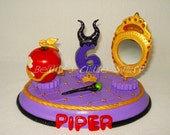 Descendants theme Cake Topper with name & number