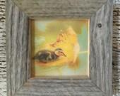 Framed Duckling Print/Barn Wood Frame/FREE SHIPPING