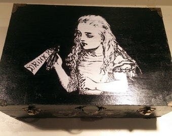 Alice in Wonderland Custom Made Wood Box