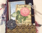 Vintage, Junk Journal, Altered Book, 2 Signatures, Denim Cover