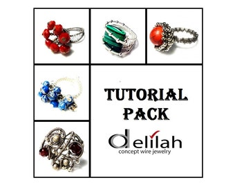 30 % OFF Rings Tutorial Pack 5 Wire Wrap Rings Tutorials Wirework Tutorials Wire Wrapped Jewelry Tutorials Wire Wrapped Ring Tutorials Pack