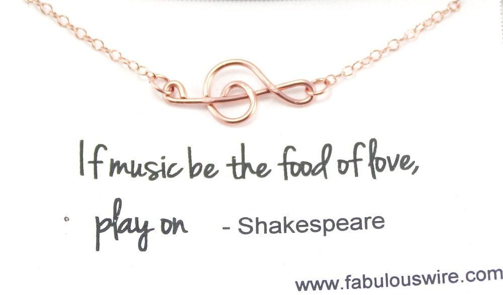 Rose Gold G Clef Bracelet