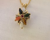 Reserved for Maddy - Pendant - Multi-Colored Stones - Vintage