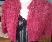 Vintages 1920s/1930s Red Fringed Shrug/Jacket - Fabulous!