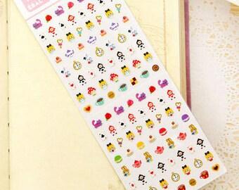 Diary Scrapbook Deco Sticker Label - Micro Alice in Wonderland