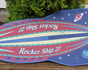 Rocket Cork Board Wall Hanging