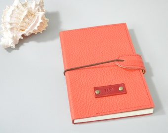 Personalized Leather Journal or Notebook - Red, personalized diary, leather journal, leather notebook, travel journal, red journal, reddiary