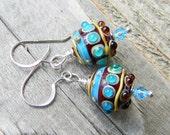 Reserved for Shelly - Bohemian Prayer Lampwork Earrings