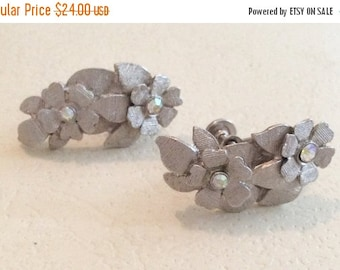 Aurora Borealis Rhinestone Earrings, Art Deco Revival Vintage Jewelry, SPRING SALE