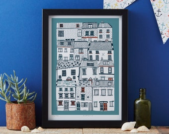 All Stacked Up art print designed by Jessica Hogarth - art print - - matted print - ready to frame - colourful digital print on matte card