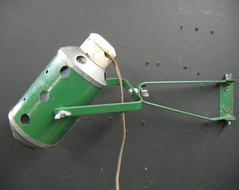 7986 Industrial Articulated Steel Workshop Light Lamp Rewired