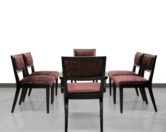 Set of Six Mid Century Dining Chairs by Edward Wormley for Drexel