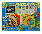 "Children's puzzle and Black Train or Red Train vehicle For any Occasion Gift ""Free Shipping and 2 DAY PRIORITY"""