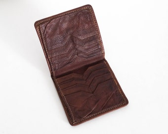 Vintage Bifold Genuine Leather Wallet 1970s As-Is