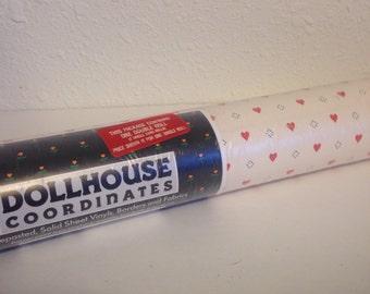 Vintage Heart Wallpaper, Vintage Wallpaper Roll, Dollhouse Wallpaper, Dollhouse Coordinates, Full Roll Wallpaper
