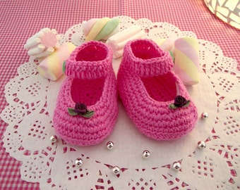 CROCHET Baby Shoe PATTERN - Little Lilly Crochet Shoes Pattern ballerinas for babies girls pdf pattern Instant Download