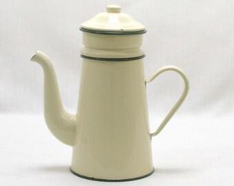 French Cafetiere, Cafetiere, Coffee Perculator, Coffee Pot, French Coffee Pot, Large Coffee Pot, Enamel Coffee Pot, Perculators (4297)