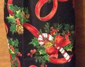 grocery bag holder christmas candycane winter
