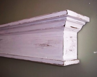 Rustic Fireplace Mantle - Fireplace Mantel Wall Shelf  -  Floating Wall Shelf - Wood Shelf -