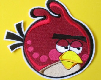 Extra Large Angry Bird Applique Patch, Iron or Sew On Patch