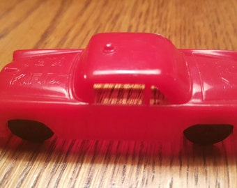 Vintage Ford Fire Chief - K.F.D. - Plastic Car - Antique - Molded - Fire Engine Red