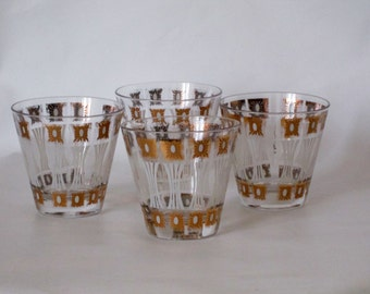 Fred Press Signed Old Fashioned Glasses.  Beautiful Condition.