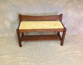 Custom Bench With Shelf, Tennons and choice of seat