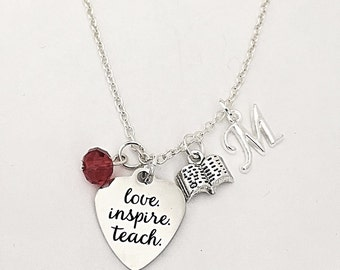 Personalized Teachers Necklace