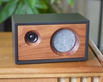 Walnut Wood Speaker | Fawn Speaker | Passive Speaker | Desk Speaker | Expandable Speaker System | Charcoal