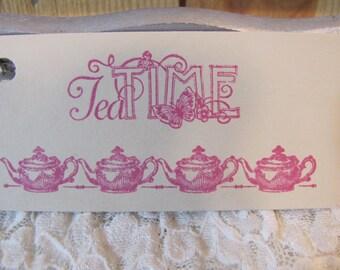 Tea Time Teapot Tags set of 8 Tea Party Bridal Shower Birthday