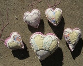 Hearts, Hearts, and More hearts..5 prim quilt hearts