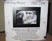 Personalized In Loving Memory Dad Wedding Picture Frame Wood box In Loving Memory Sign Picture Frame Wedding Memory Father of the Bride
