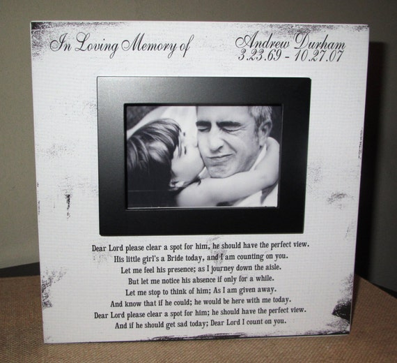 personalized in loving memory dad wedding picture frame wood box in loving memory sign picture frame