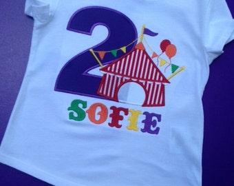 Circus Tent Birthday Shirt or Onesie, Circus Birthday Shirt or Onesie