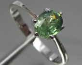 RESERVED Sterling Silver 925 Ring Natural Demantoid Garnet Green Small